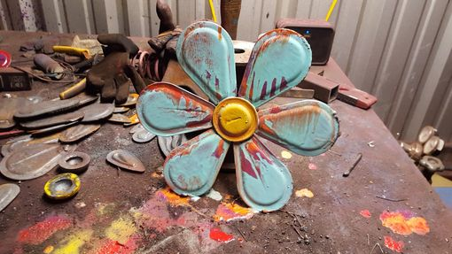 Custom Made Metal Wall Art Flowers