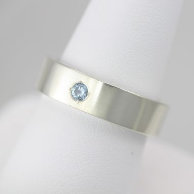 Custom Made 1 Stone Ring In Sterling Silver