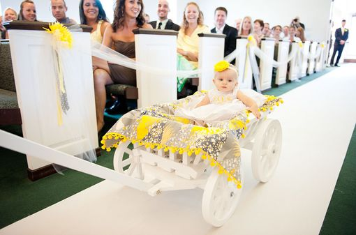 Custom Made Medium Flower Girl Pumpkin Wagon- Painted