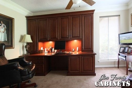 Custom Made Home Office Computer Desk & Bookcases