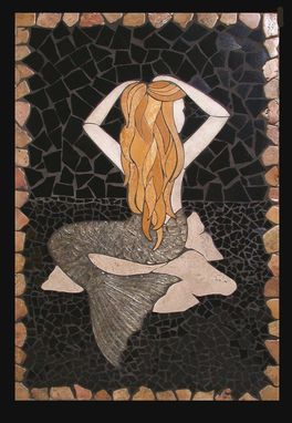 Custom Made Mermaid Tile Mural