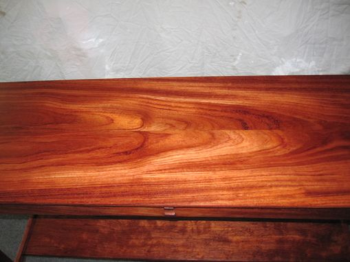 Custom Made Solid Bubinga Hall Table