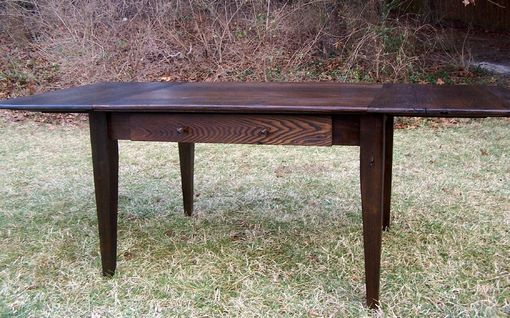 Custom Made Wormy Chestnut Farm Table With Extension
