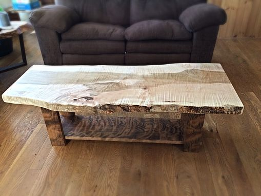 Custom Made Live Edge Curly Maple Coffee Table