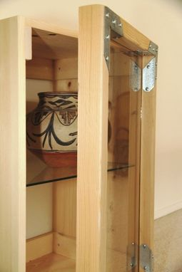 Custom Made Small Cabinet With Glass Door