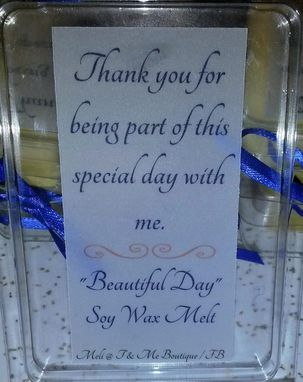 Custom Made 15 Wax Melt Occasion Favors