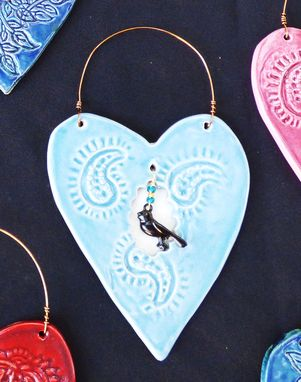 Custom Made Hearts Of Hope, Window To My Heart Ornaments, 1 Ceramic Wall Hearts
