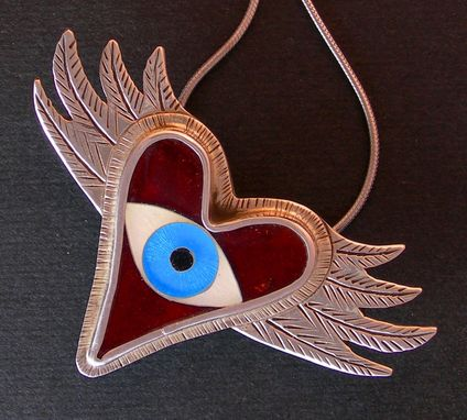 Custom Made Evil Eye Necklace - Flying Heart