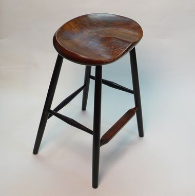 Custom Made Garny - Stool - Tiger Maple For Kitchen Counter