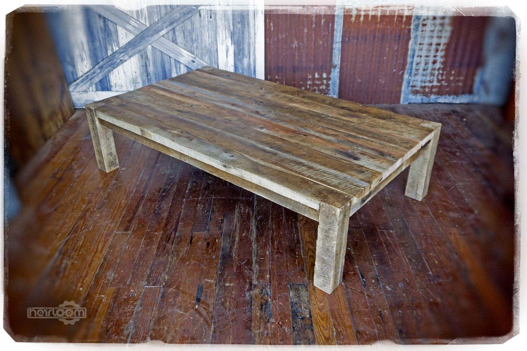 Custom Made Solid Barn Wood Coffee Table