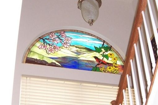 Custom Made Scenic Stained Glass Window  (W-5)