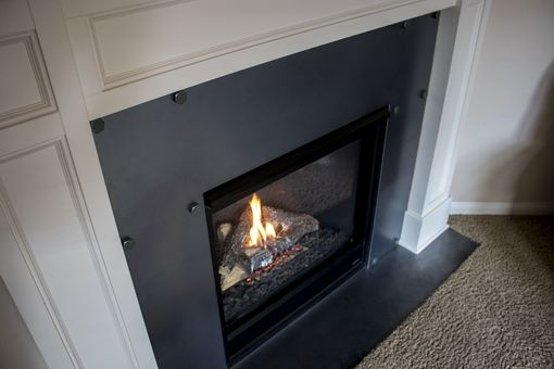Custom Made Steel Fireplace