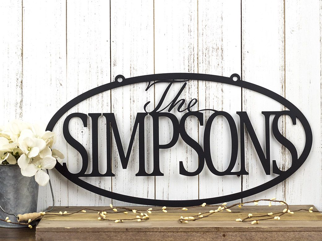 Buy a Hand Crafted Custom Family Last Name Metal Sign  5db8180c8535