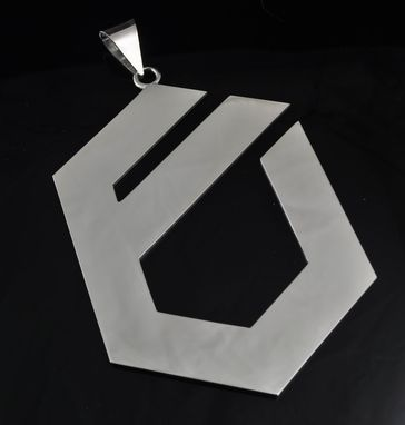 Custom Made Silver Logo Pendant