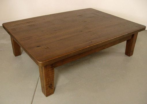Custom Made Rustic Chestnut Coffee Table