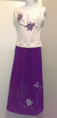 Custom Made Purple And White Causal Outfit