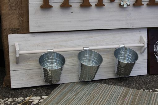 "Custom Made 24"" Rustic Wood Planter Panel"