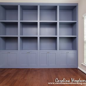 Custom Built In Bookcases With Cabinets