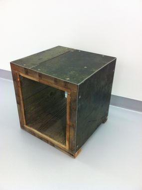 Custom Made Cube Sculpture Seat Or Table
