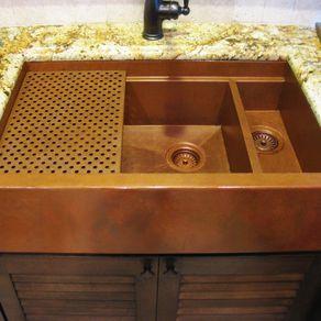 Custom sinks custommade custom copper sink double bowl sink workwithnaturefo