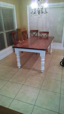 Custom Made Solid Maple Dining Room Table