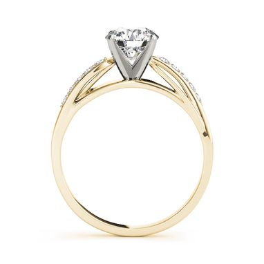 Custom Made Bypass 14k Yellow Gold Diamond Engagement Ring 1/10 Ct