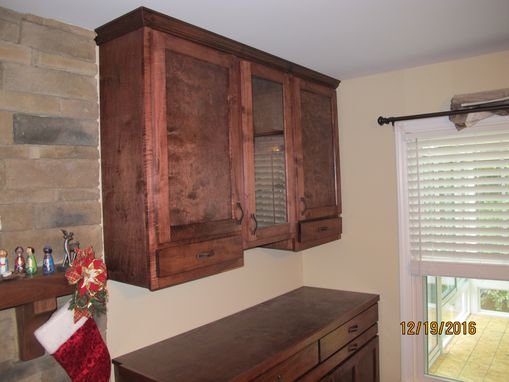 Custom Made Custom Built-In Cabinets With Refrigerator