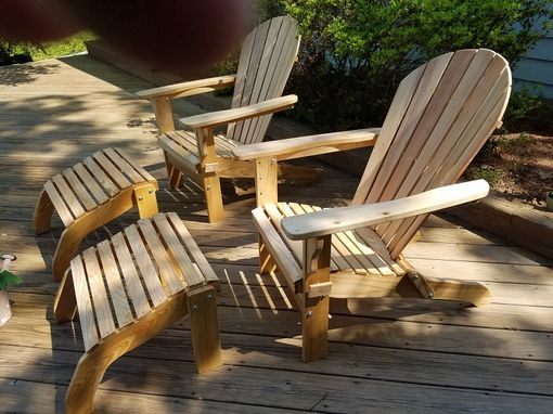 Custom Made Adirondack Chairs With Leg Rests