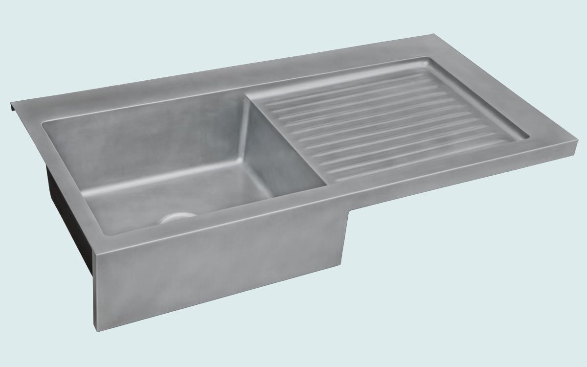 drainboard kitchen sink made zinc sink with apron amp ribbed drainboard by 3451