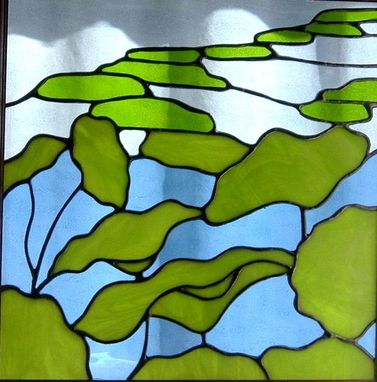 Custom Made Waterlily Stained Glass Window