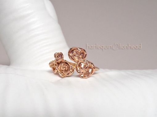 Custom Made Adjustable Rose Ring - Rose Gold Plated