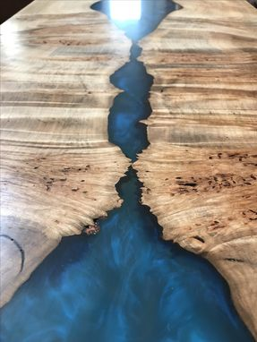 Custom Made Live Edge Maple River Coffee Table