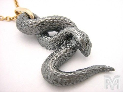 Custom 10 k gold black snake serpent pendant with diamond eyes by 10 k gold black snake serpent pendant with diamond eyes mozeypictures Image collections