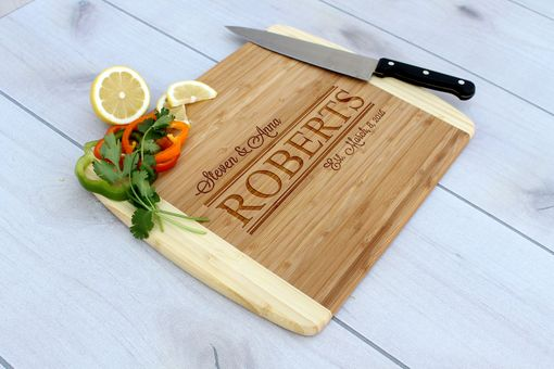 Custom Made Personalized Cutting Board, Engraved Cutting Board, Custom Wedding Gift – Cb-Bam-Steven & Anna