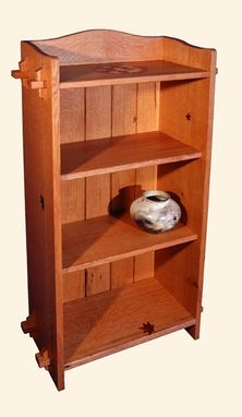 Custom Made Falling Leaves Arts And Crafts Bookcase