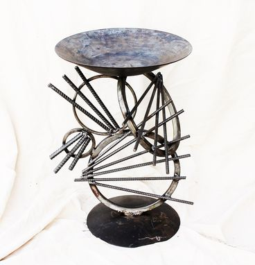 Custom Made Upcycled Metal Sculpture Garden Decor