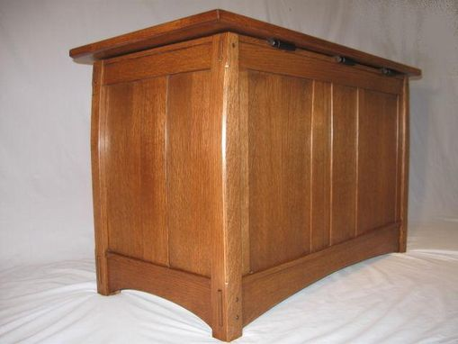 Custom Made Arts And Crafts White Oak Linen Chest