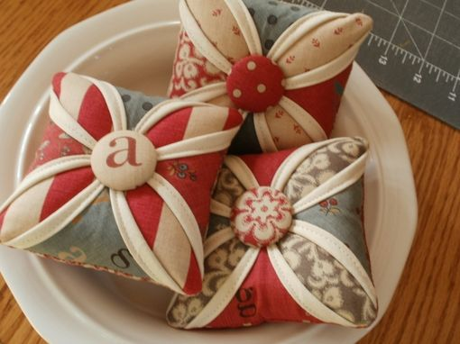 Custom Made Cathedral Windows Pincushions