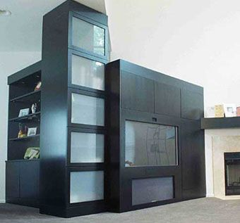 Custom Made Contemporary Entertainment Cabinet, Room Divider