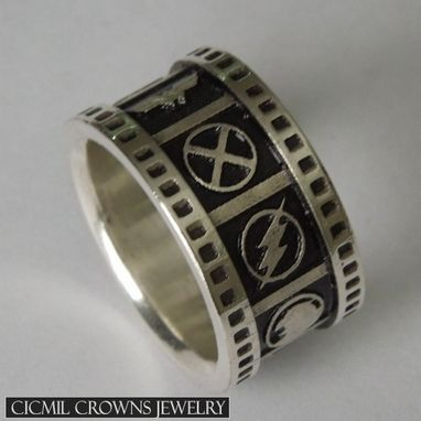 Custom Made Superhero Wedding Band Black