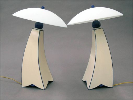 Custom Made Jazz Inpired Lamp Ii, Milk Painted Version