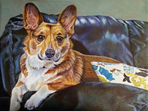 Custom Made Custom Commissioned Oil Painting ~ Dog Loki