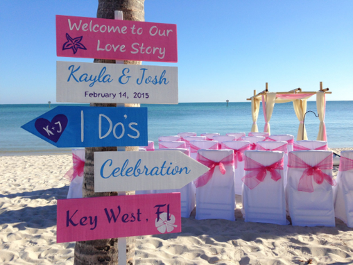 Custom Made Welcome To Our Wedding Beach Ceremony Decoration Sign