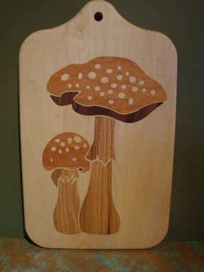 Custom Made Solid Wood Inlayed Cutting Boards, Slice And Dice On One Side, Clean And Hang #2