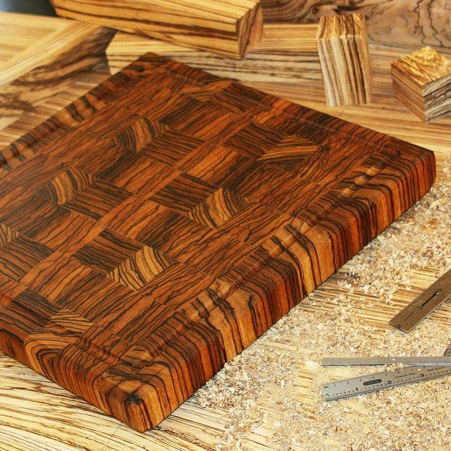 Hand Made Zebrawood End Grain Cutting Board By Carolina Wood Designs Custommade