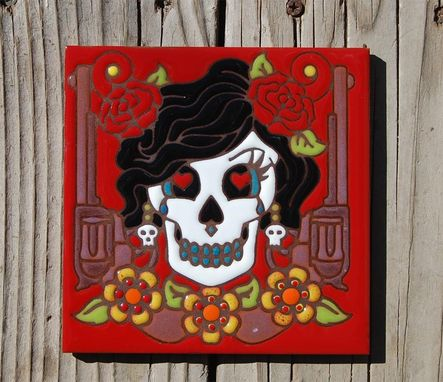 Custom Made Day Of The Dead Tile Trivets