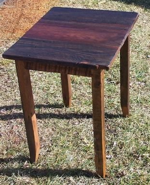 Custom Made Antique Oak End Table Made From Reclaimed Wood