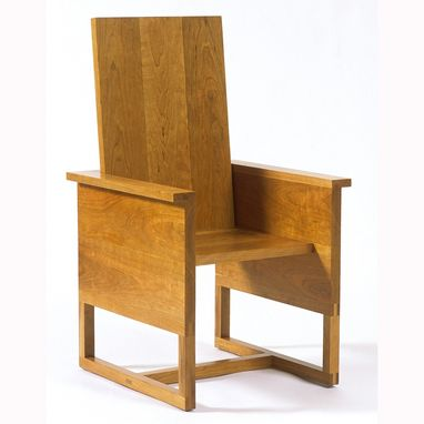 Custom Made Presider's Chair 1, Fabricated For Lawrence Cook Faia