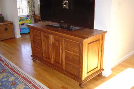 Custom Made Reclaimed Pine Media Cabinet.