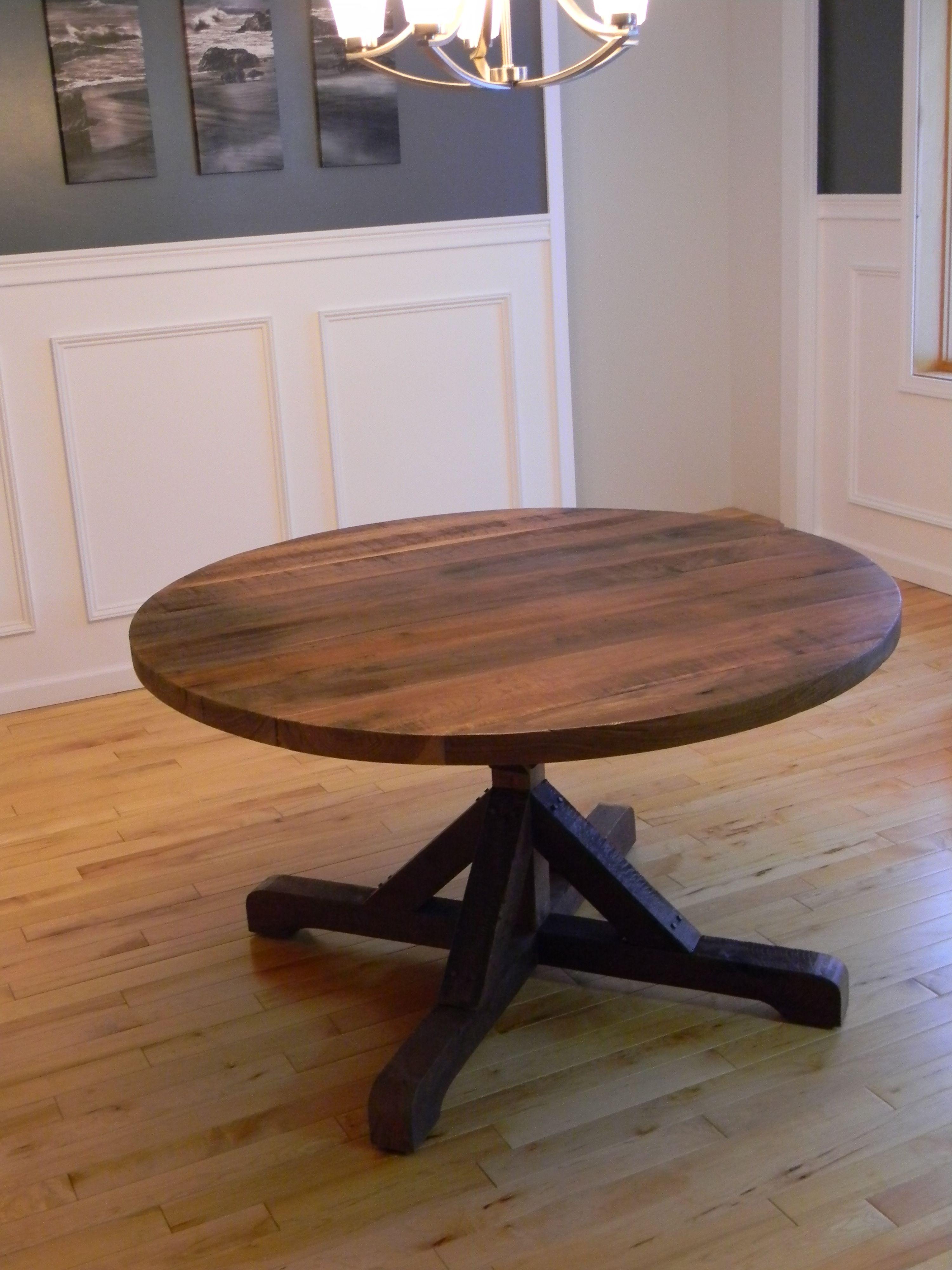 Custom Made Reclaimed Walnut Dining Table